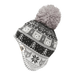 The North Face Baby Faroe Beanie Toddlers Hat, Metallic Silver-TNF White, 256