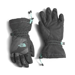 The North Face Youth Revelstoke Etip Kids Gloves, Graphite Grey-Ice Green, 256