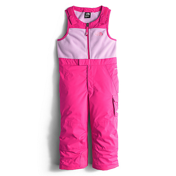 The North Face Insulated Bib Toddler Girls Ski Pants (Previous Season), Cabaret Pink, 600