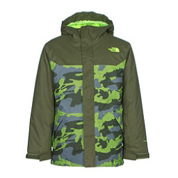 The North Face Brayden Insulated Boys Ski Jacket, Terrarium Green Mesh Camo, 256