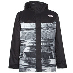 The North Face Brayden Insulated Boys Ski Jacket, TNF Black Static Print, 256