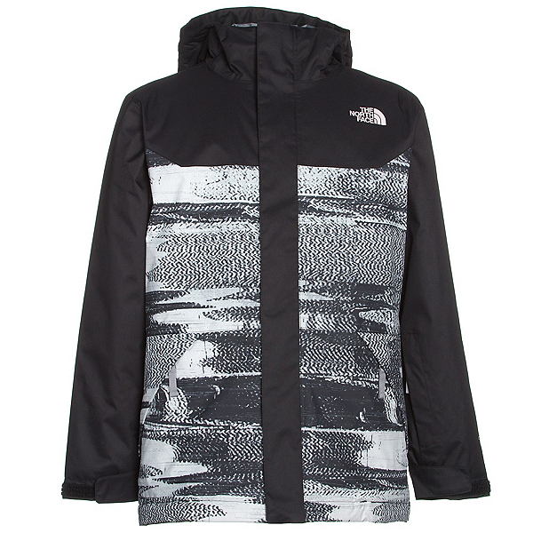 The North Face Brayden Insulated Boys Ski Jacket, TNF Black Static Print, 600