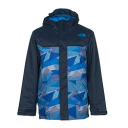 The North Face Brayden Insulated Boys Ski Jacket, Jake Blue Geo Camo, 256