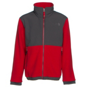 The North Face Denali Boys Jacket, Graphite Grey-TNF Red, medium