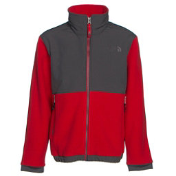The North Face Denali Boys Jacket (Previous Season), Graphite Grey-TNF Red, 256
