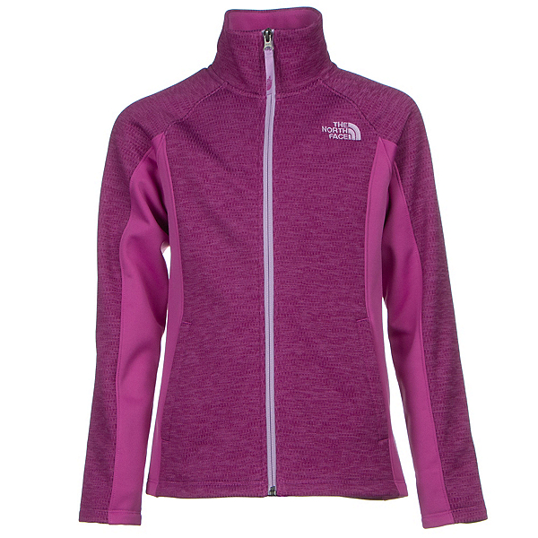 The North Face Arcata Full Zip Girls Jacket, Wisteria Purple Heather, 600