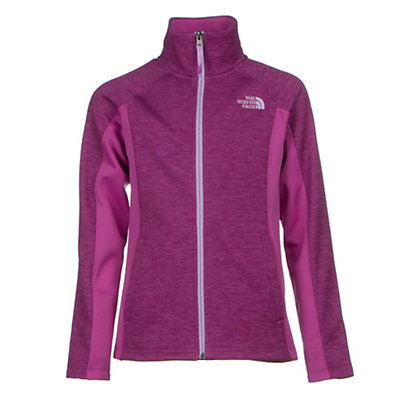 The North Face Arcata Full Zip Girls Jacket, Wisteria Purple Heather, viewer
