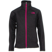 The North Face Arcata Full Zip Girls Jacket, Graphite Grey Heather, medium