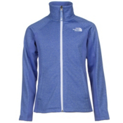 The North Face Arcata Full Zip Girls Jacket, Grapemist Blue Heather, medium