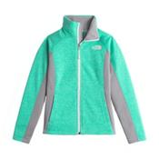 The North Face Arcata Full Zip Girls Jacket, Ice Green Heather, medium
