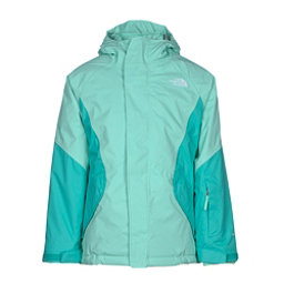 The North Face Kira Triclimate Girls Ski Jacket, Ice Green, 256