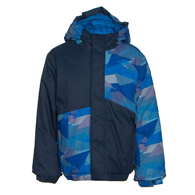 The North Face Calisto Insulated Toddler Ski Jacket, Jake Blue Geo Camo, viewer