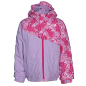 The North Face Casie Insulated Toddler Girls Ski Jacket, Cabaret Pink Butterfly Camo, medium