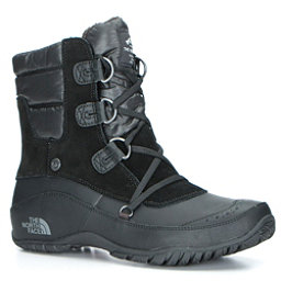 The North Face Nuptse Purna Shorty Womens Boots, TNF Black-Plum Kitten Grey, 256