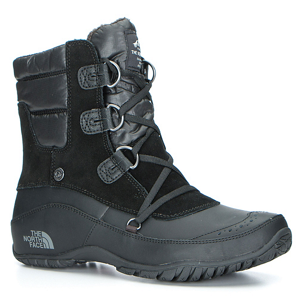 The North Face Nuptse Purna Shorty Womens Boots, TNF Black-Plum Kitten Grey, 600