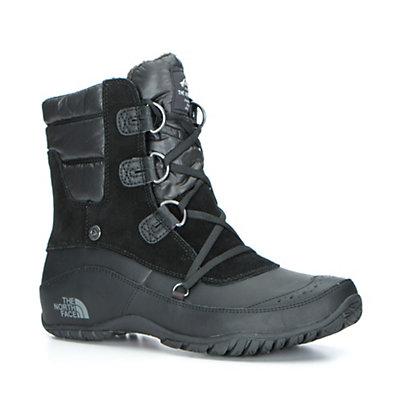The North Face Nuptse Purna Shorty Womens Boots, TNF Black-Plum Kitten Grey, viewer