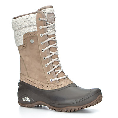 The North Face Shellista II Mid Womens Boots, Split Rock Brown-Dove Grey, viewer