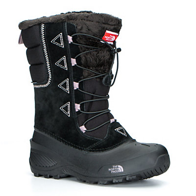 The North Face Shellista Lace II Kids Boots, TNF Black-Quail Grey, viewer