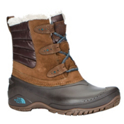 The North Face Shellista II Shorty Womens Boots, Dark Earth Brown-Storm Blue, medium