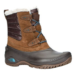 The North Face Shellista II Shorty Womens Boots, Dark Earth Brown-Storm Blue, 256