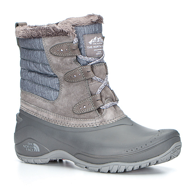 The North Face Shellista II Shorty Womens Boots, Dark Gull Grey-Cloud Grey, 600