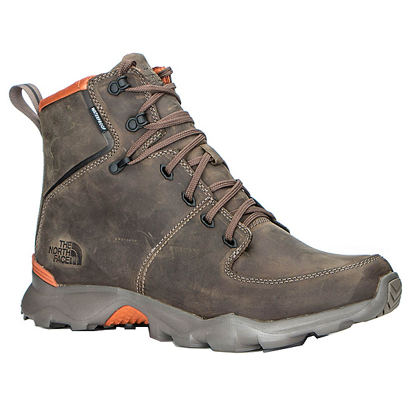 The North Face Thermoball Versa Mens Boots, Weimaraner Brown-Bombay Orange, 600