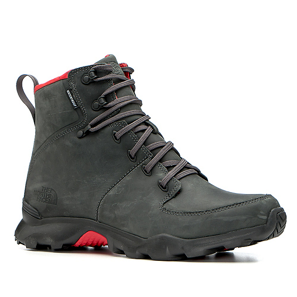 The North Face Thermoball Versa Mens Boots, Dark Shadow Grey-TNF Red, 600