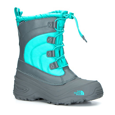 The North Face Alpenglow IV Girls Boots, Dark Shadow Grey-Ion Blue, viewer