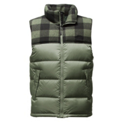 The North Face Nuptse Mens Vest, Duck Green-Duck Green Grizzly, medium