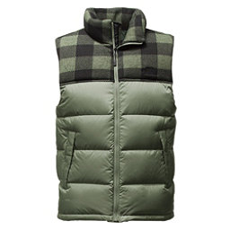 The North Face Nuptse Mens Vest, Duck Green-Duck Green Grizzly, 256