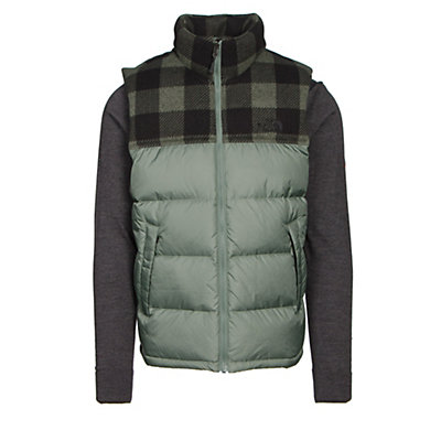 The North Face Nuptse Mens Vest, Duck Green-Duck Green Grizzly, viewer