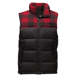 The North Face Nuptse Mens Vest, TNF Black-Cardinal Red Grizzly, 256