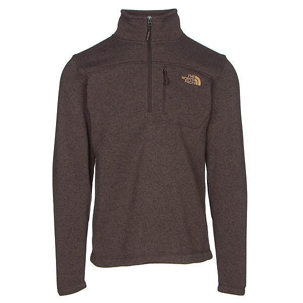 The North Face Gordon Lyons 1/4 Zip Mens Sweater, Coffee Bean Brown Heather, 600