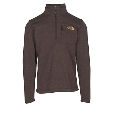 The North Face Gordon Lyons 1/4 Zip Mens Sweater, Coffee Bean Brown Heather, viewer