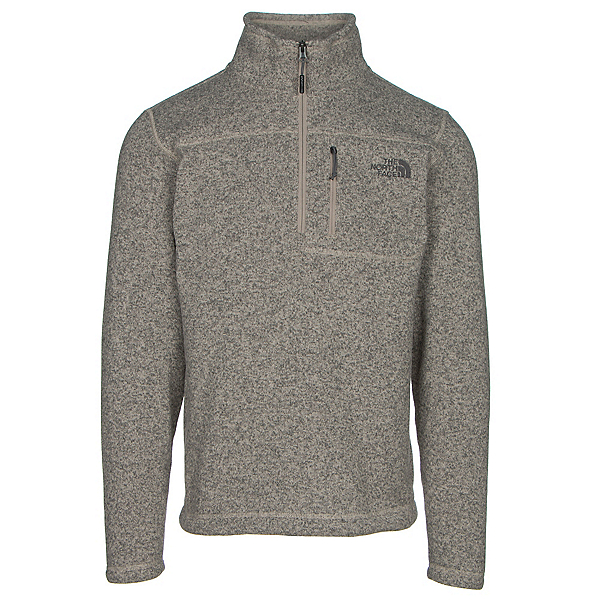 The North Face Gordon Lyons 1/4 Zip Mens Sweater, Dune Beige Heather, 600