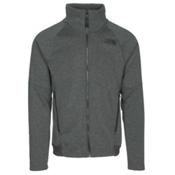 The North Face Far Northern Full Zip Mens Jacket, Asphalt Grey Heather-Asphalt G, medium