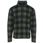 The North Face Novelty Gordon Lyons 1/4 Zip Mens Sweater, Duck Green Grizzly Print, medium