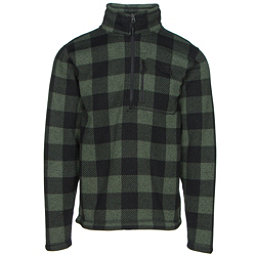 The North Face Novelty Gordon Lyons 1/4 Zip Mens Sweater, Duck Green Grizzly Print, 256