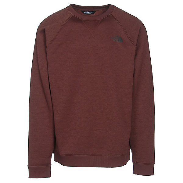 The North Face Norris Point Crew Mens Sweater, Sequoia Red Heather, 600