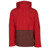 The North Face Gambit Triclimate Mens Insulated Ski Jacket, Fiery Red-Hot Chocolate Brown, medium