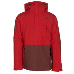 The North Face Garner Triclimate Mens Insulated Ski Jacket, Fiery Red-Hot Chocolate Brown, 256