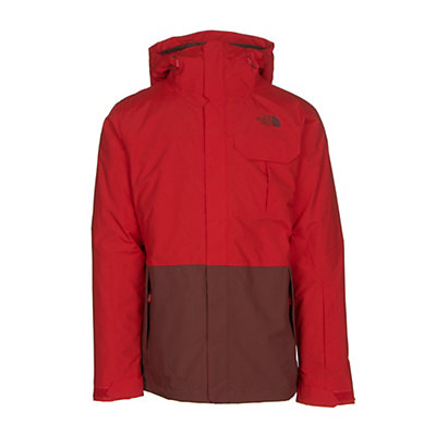 The North Face Garner Triclimate Mens Insulated Ski Jacket, Fiery Red-Hot Chocolate Brown, viewer