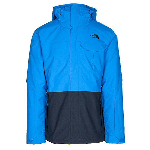 The North Face Garner Triclimate Mens Insulated Ski Jacket, Bomber Blue-Urban Navy, 600
