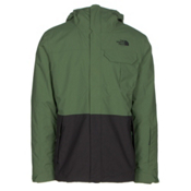 The North Face Garner Triclimate Mens Insulated Ski Jacket, Vista Green-Asphalt Grey, medium