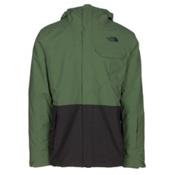 The North Face Garner Triclimate Mens Insulated Ski Jacket, Vista Green-Asphalt Grey, medium