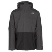The North Face Garner Triclimate Mens Insulated Ski Jacket, Asphalt Grey-TNF Black, medium