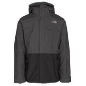 The North Face Garner Triclimate Mens Insulated Ski Jacket, Asphalt Grey-TNF Black, medium