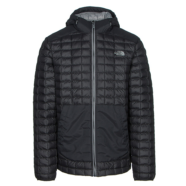 The North Face ThermoBall Snow Hoodie Mens Jacket, TNF Black, 600
