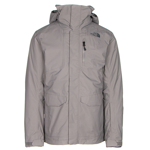The North Face ThermoBall Snow Triclimate Mens Insulated Ski Jacket, Zinc Grey, 600