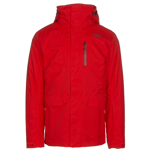 The North Face ThermoBall Snow Triclimate Mens Insulated Ski Jacket, Fiery Red, 600